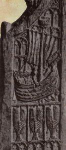Detail van het zijstuk van de koorbank van St.Nicholas'Chapel in Norfolk, 1419 (Victoria en Albert)