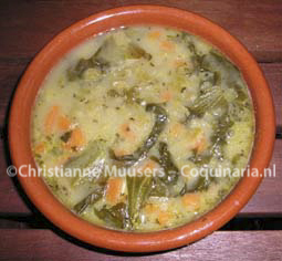 French vegetarian pea soup from the 17th century