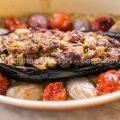 Gevulde aubergines (met en zonder vlees)