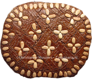 Dutch speculaas with almond paste