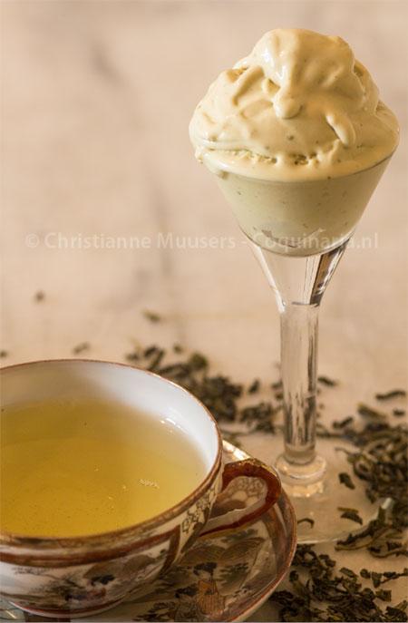 Groente thee-ijs en groene thee © Christianne Muusers