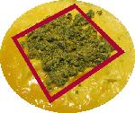 Positie van de vulling op de omelet