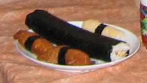 Inari-zushi, maki-zushi en kinshi-maki