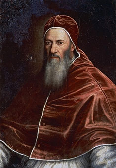 Pope Julius III, 1550 to 1555 (source Wikimedia)
