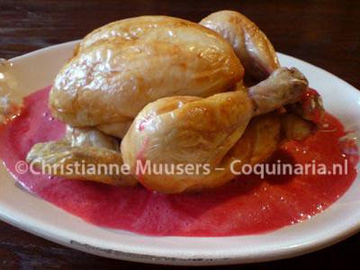 Geroosterde kip met aalbessensaus