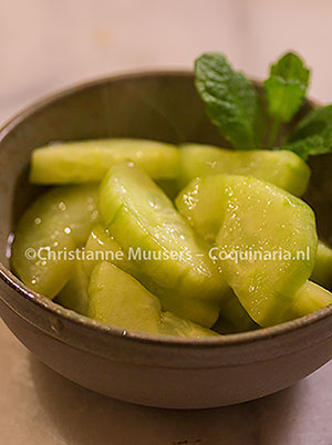 Cucumbers prepared according to Pliny. Picture ©Christianne Muusers