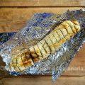 Stokbrood met kruidenboter op de barbecue