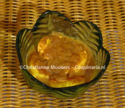 Kruidige eieren bij de rijsttafel