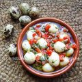 Spanish marinated quail eggs