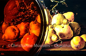 Quince jelly on top of a screen with a still life by Luis Egidio Meléndez (1771, source: wikimedia)