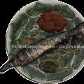 Sauzen bij geroosterde vis