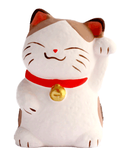 Japanese good luck cat, maneki neko
