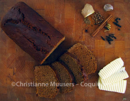 Dutch gingerbread with ingredients