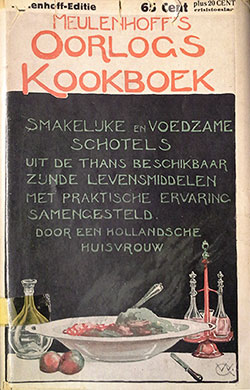 Cover of the Oorlogs-kookboek ('War cookbook', Meulenhoff, 1918)