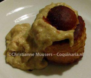 Vol-au-vent with chicken ragout