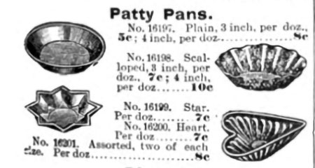 'Patty pans' uit de catalogus van Sears, 1897