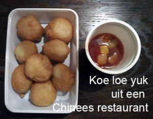 Koe loe yuk van een Chinees restaurant