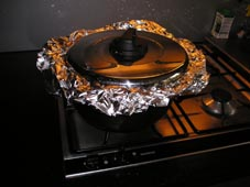 Pan for smoking on the stove