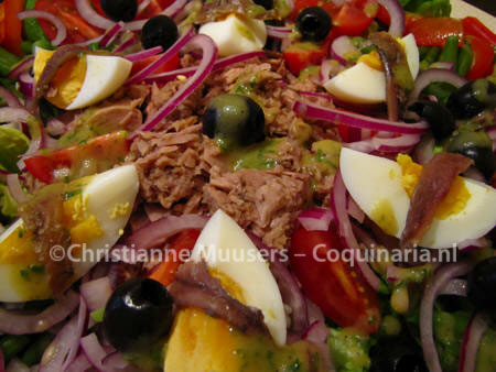 Close-up van Salade Niçoise
