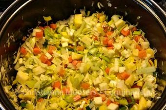 Stock from winter vegetables