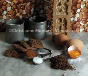 Ingredients for speculaas