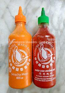 Sriracha mayonaise en srirachasaus