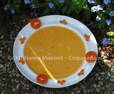 Vegetarische koninginnesoep, ofwel worteltjessoep