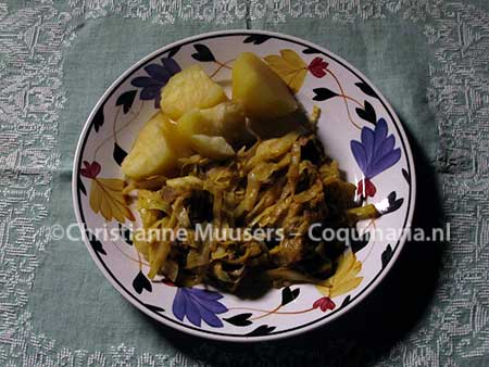 Gilt Poverty, or braised beef with cabbage