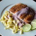 Salmon in red wine-sauce
